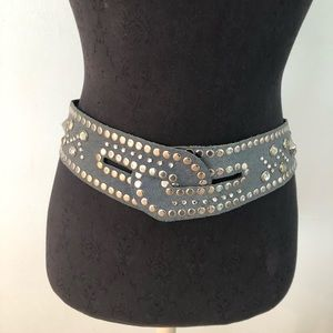 """Vintage 1980s Bedazzled Snap Cuff Belt 32""""-34"""""""
